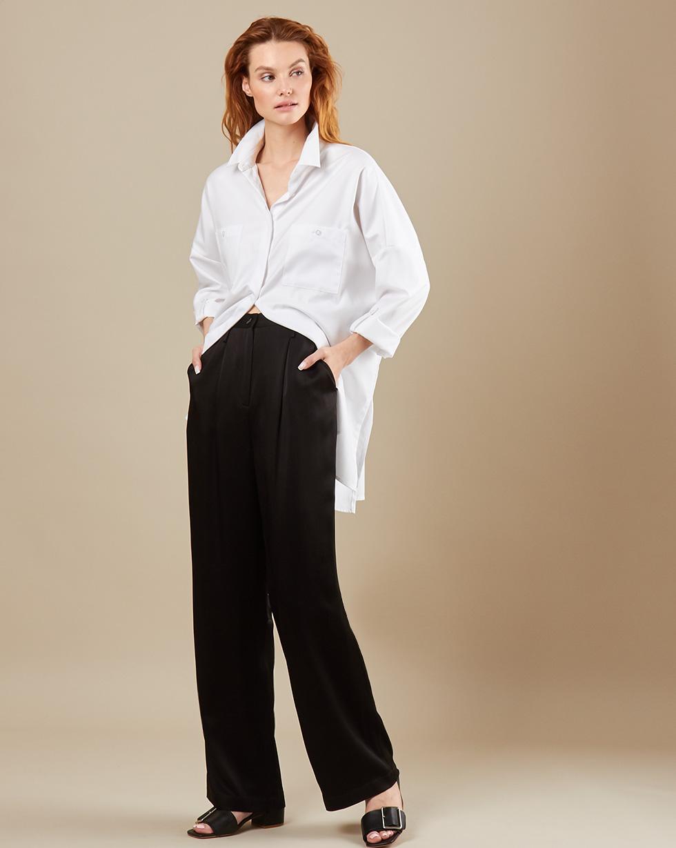 12Storeez Брюки свободные в пижамном стиле (чёрный) ostin свободные брюки из вискозы