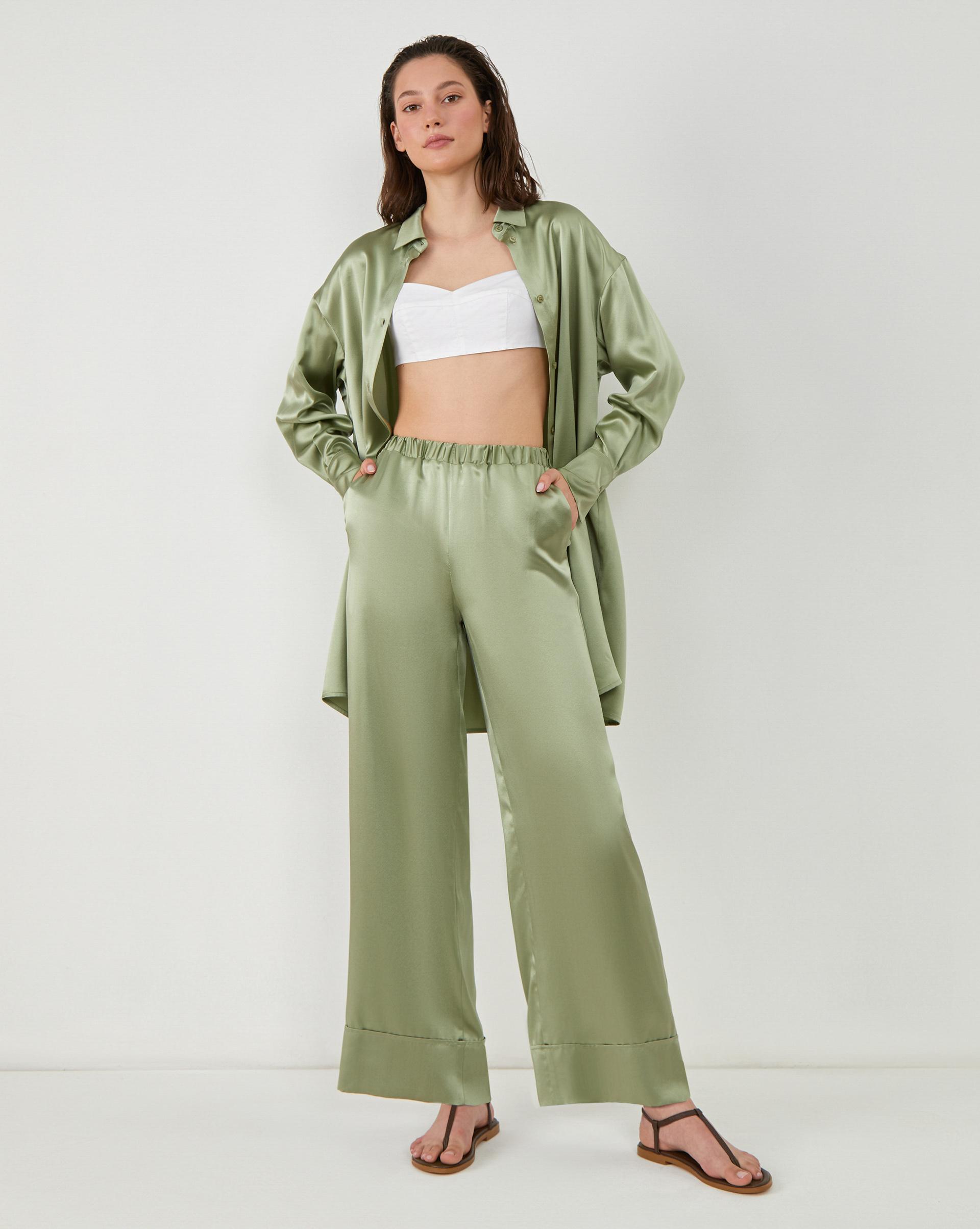 12STOREEZ Шелковые брюки