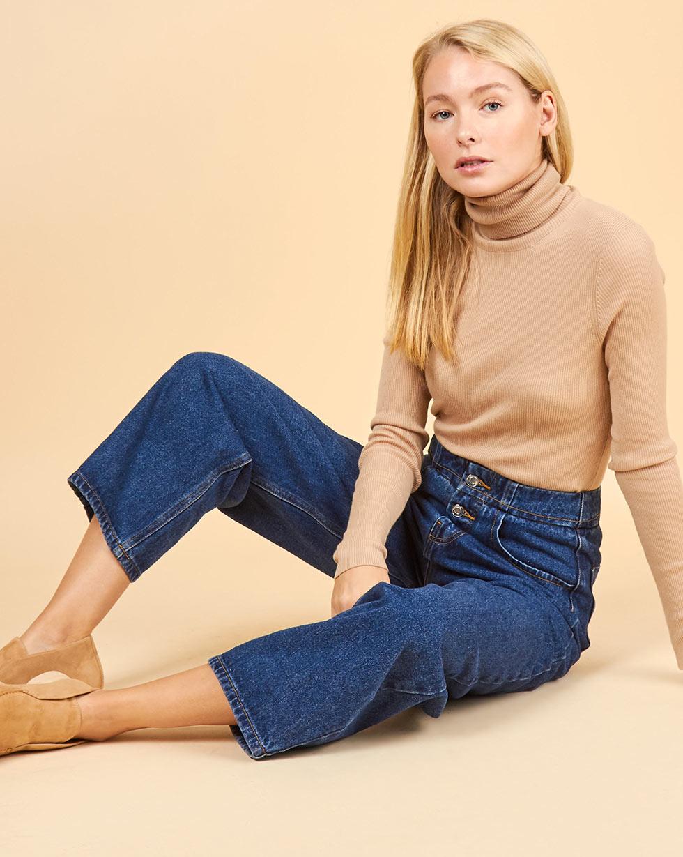 12Storeez Джинсы широкие с застежкой на пуговицы (синий) SS2018 12storeez джинсы широкие на пуговицах темно синий