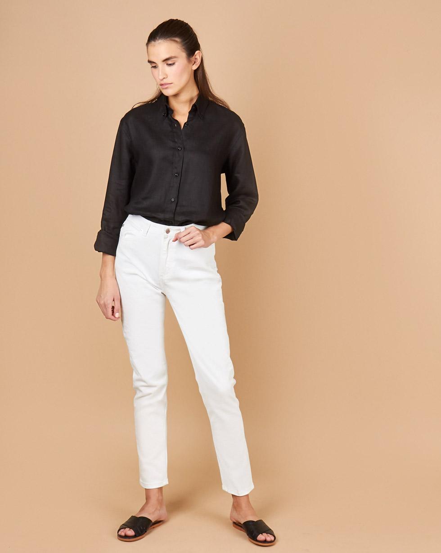 12Storeez Джинсы свободные с высокой посадкой (белый) ostin джинсы skinny с низкой посадкой