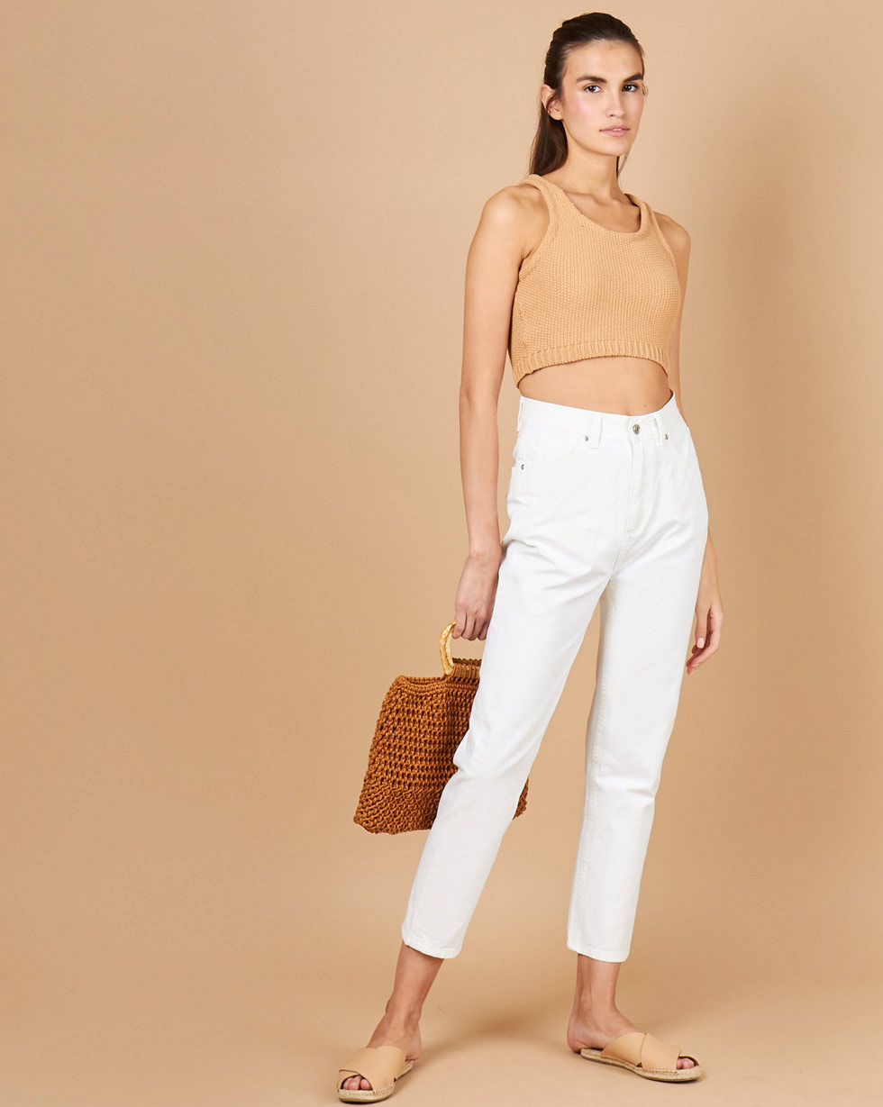 12Storeez Джинсы широкие укороченные (белый) SS2018 12storeez джинсы широкие укороченные синий