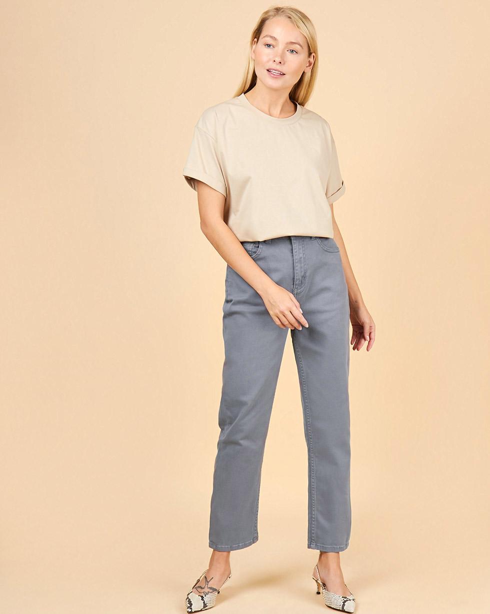 12Storeez Джинсы широкие укороченные (серый) SS2018 12storeez джинсы широкие укороченные синий
