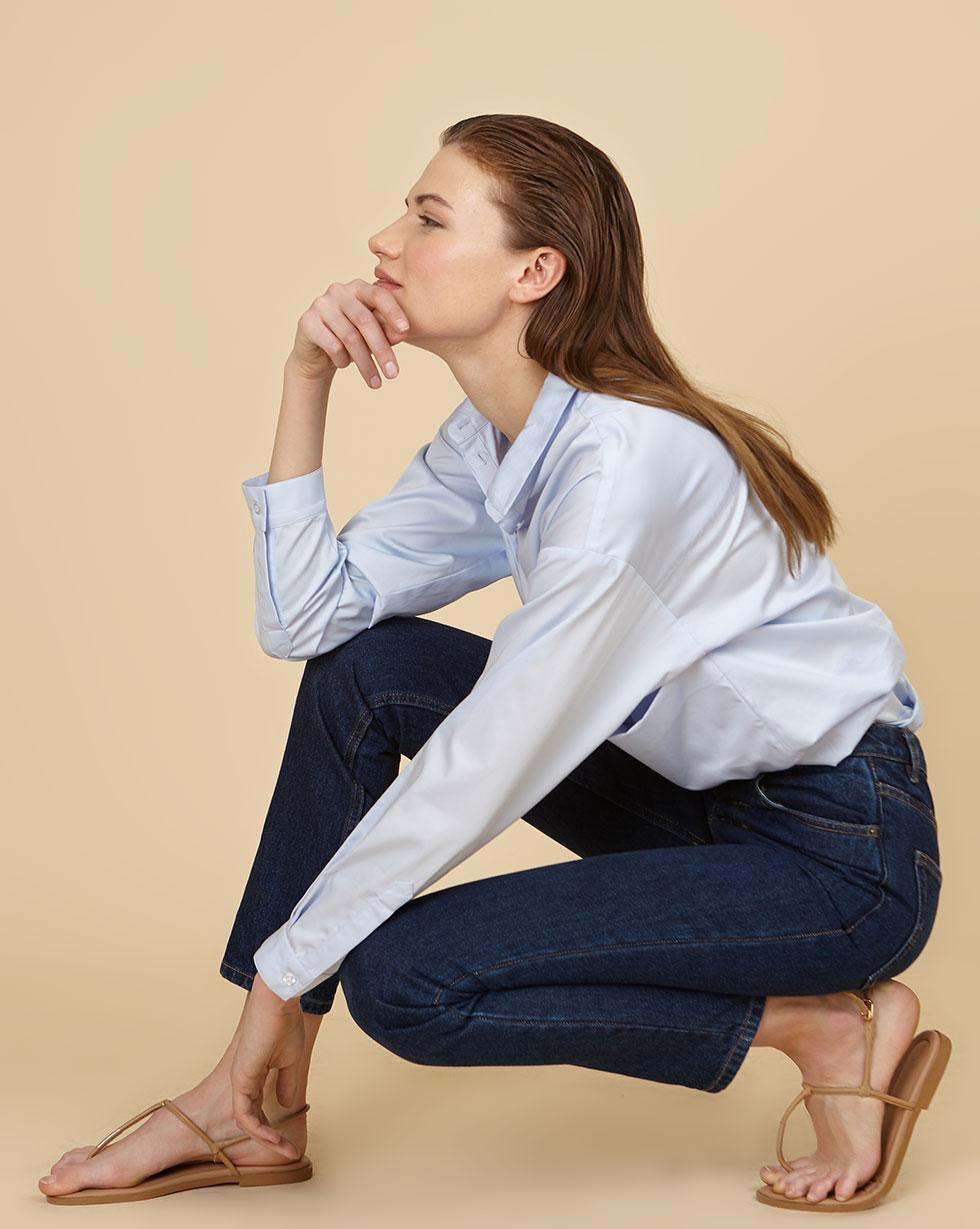 12Storeez Джинсы зауженные на пуговицах (синий) SS19 12storeez джинсы прямые на пуговицах синий ss19