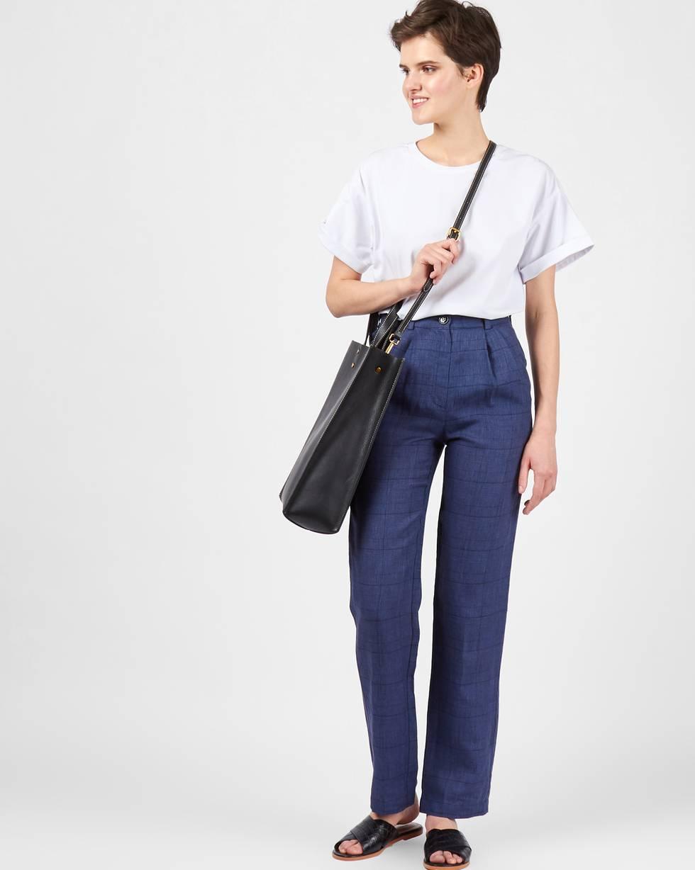 12Storeez Брюки с защипами изо льна (синий) брюки из лиоцелла и льна