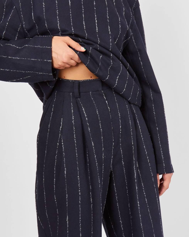 12Storeez Брюки костюмные с защипами (темно-синий) супермаркет] [jingdong который шуан ваш вс мужское белье удобные брюки хлопка означает 1951422 4 четыре серый бордовый темно синий темно синий l 170