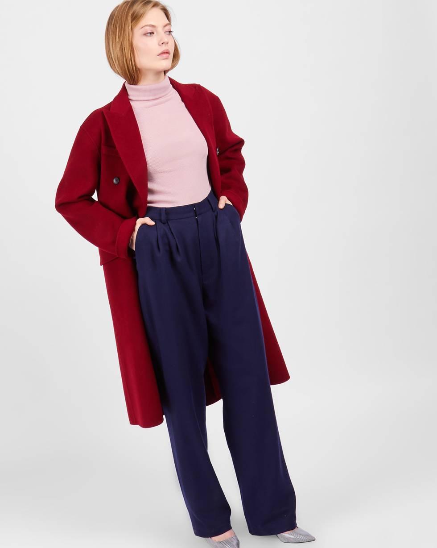 Брюки костюмные с защипами MБрюки и джинсы<br><br><br>Артикул: 220810920<br>Размер: M<br>Цвет: Синий<br>Новинка: НЕТ<br>Наименование en: High rise wool trousers