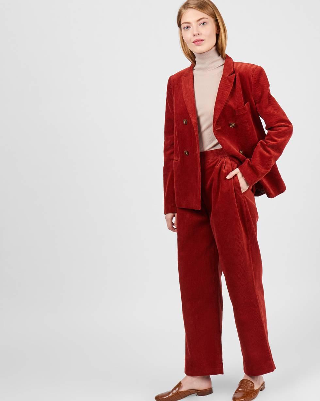12Storeez Брюки укороченные со складками из вельвета (терракотовый) брюки lady line klingel цвет терракотовый