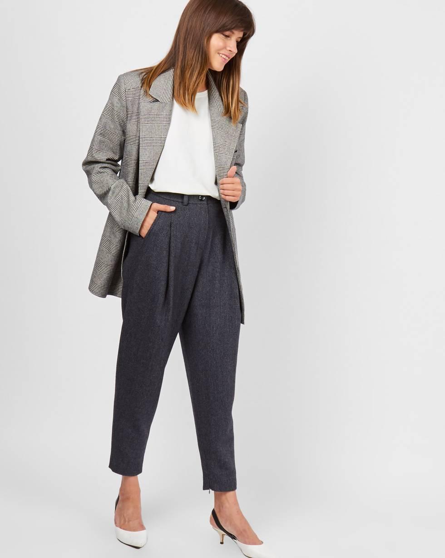 12Storeez Брюки с молниями (темно-серые) ur женской городская мода случайных брюки дикие тонкие простые темно серые леггинсы yu36r6cn2000 l