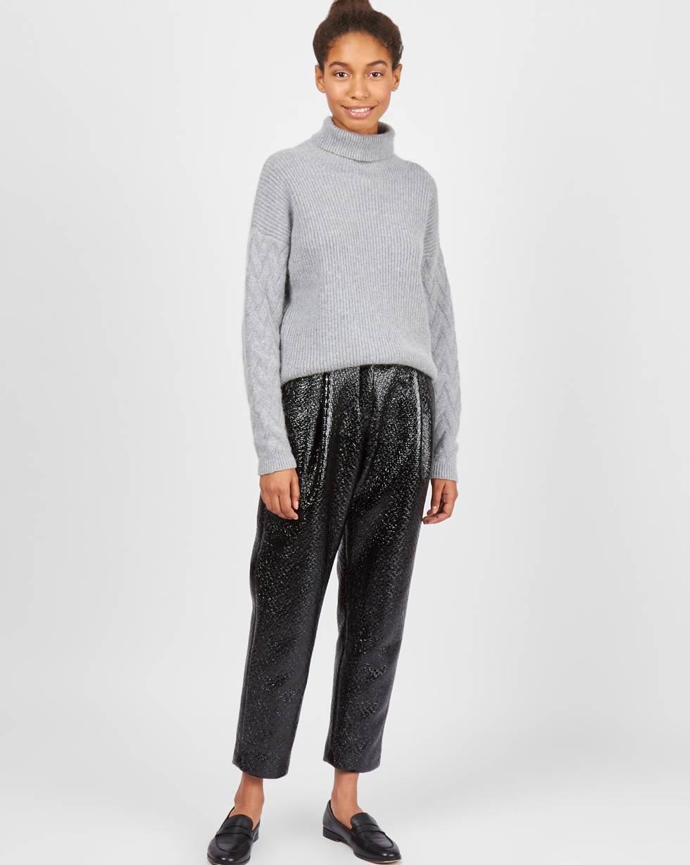 Брюки из лакированной кожи XSБрюки и джинсы<br><br><br>Артикул: 220811594<br>Размер: XS<br>Цвет: Черный<br>Новинка: НЕТ<br>Наименование en: Faux patent leather trousers