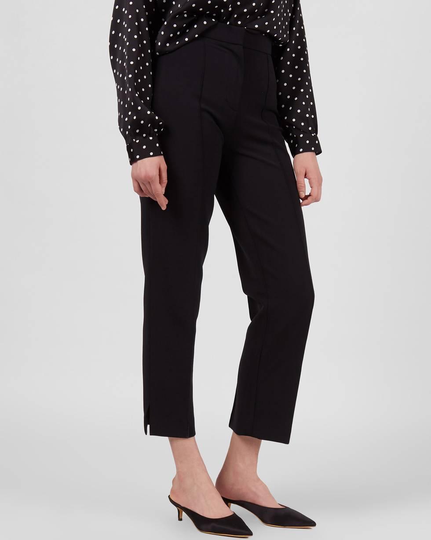12Storeez Брюки укороченные с разрезами (черный) 12storeez брюки из лакированной кожи черный
