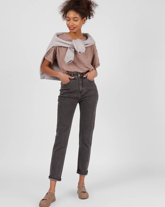 Джинсы классические LБрюки<br><br><br>Артикул: 220812361<br>Размер: L<br>Цвет: Темно-серый<br>Новинка: ДА<br>Наименование en: High rise straight leg jeans