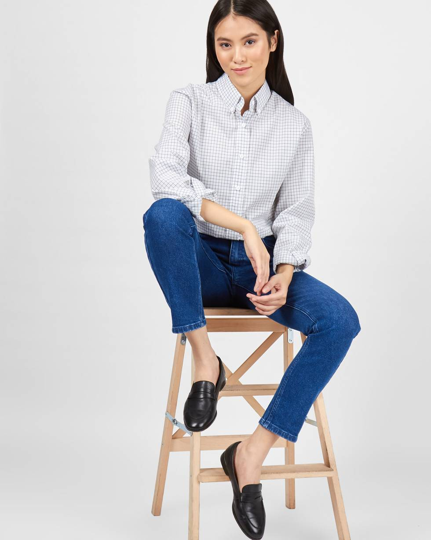 Джинсы классического покроя LБрюки и джинсы<br><br><br>Артикул: 220812362<br>Размер: L<br>Цвет: Синий<br>Новинка: НЕТ<br>Наименование en: High rise straight leg jeans