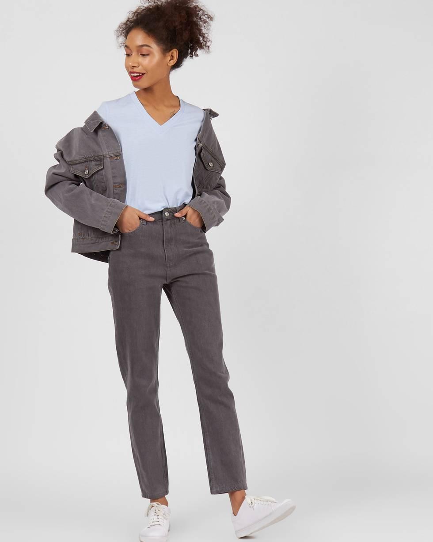 12Storeez Джинсы свободного покроя с высокой посадкой (серый) блуза apart блузы свободного покроя