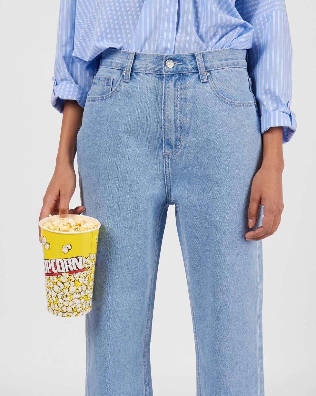 Джинсы широкие укороченные SБрюки<br><br><br>Артикул: 220812794<br>Размер: S<br>Цвет: Голубой<br>Новинка: НЕТ<br>Наименование en: Cropped wide-leg jeans