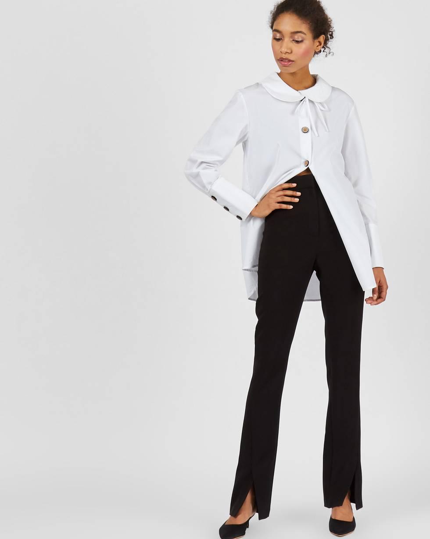 Брюки облегающие с разрезами SБрюки<br><br><br>Артикул: 220813348<br>Размер: S<br>Цвет: Черный<br>Новинка: ДА<br>Наименование en: Skinny fit flared trousers