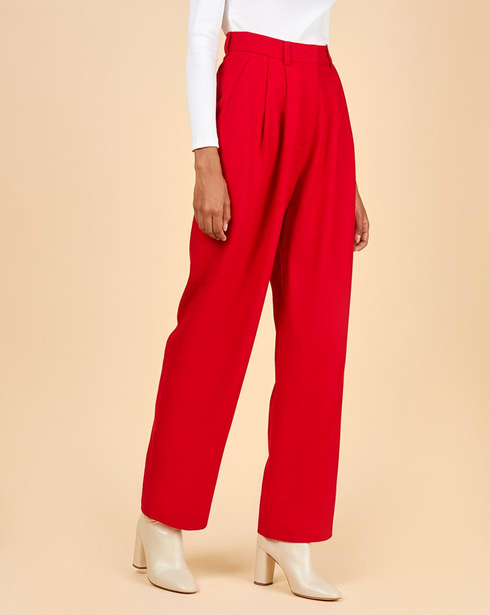 12Storeez Брюки костюмные с защипами (темно-красный) 12storeez брюки с защипами темно серые