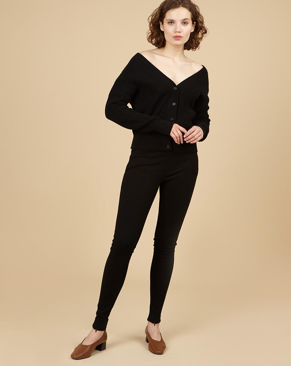 12Storeez Узкие брюки с молниями (чёрный)