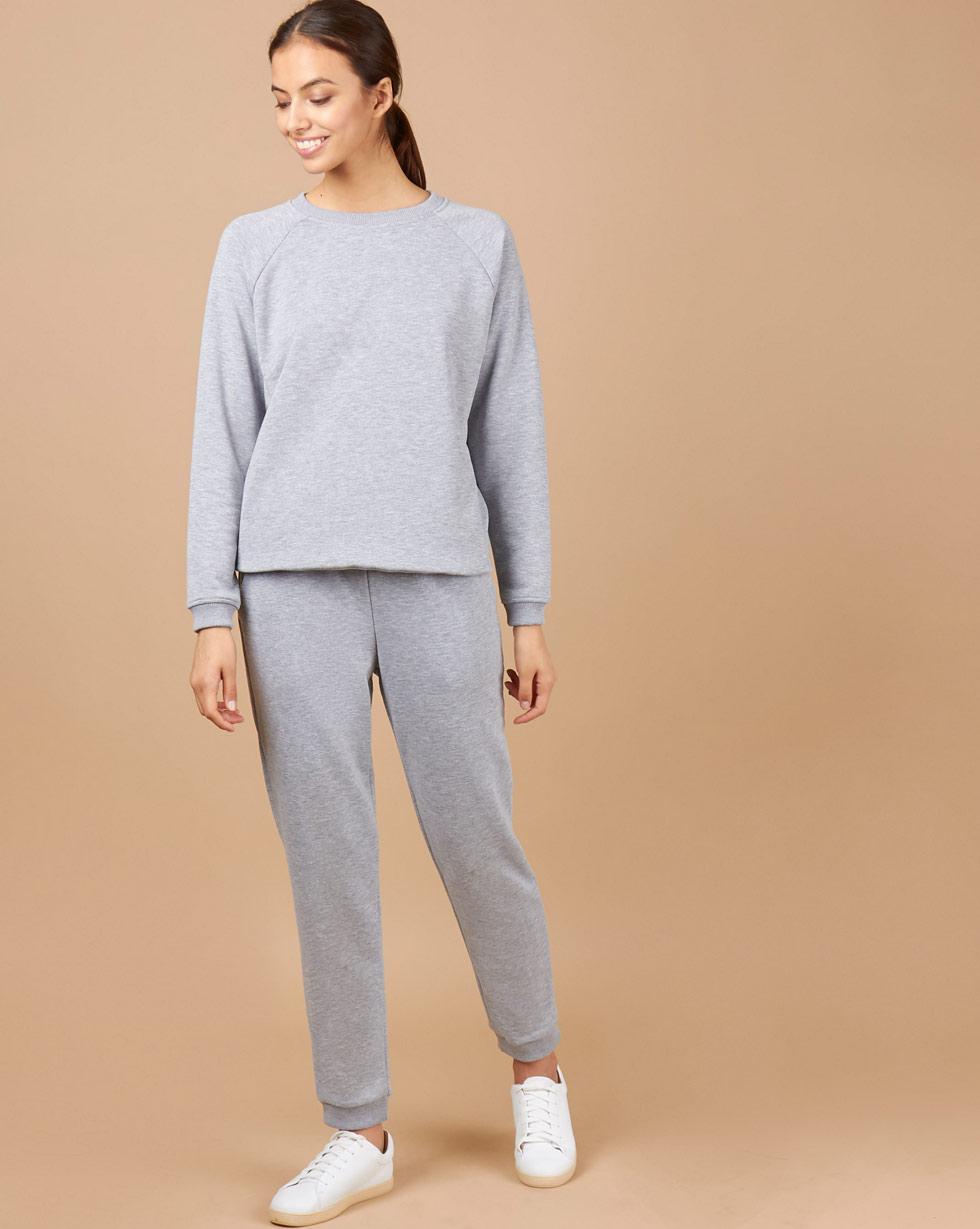 12Storeez Брюки спортивные (серый меланж) брюки спортивные для девочки cherubino цвет серый меланж caj 7707 размер 128
