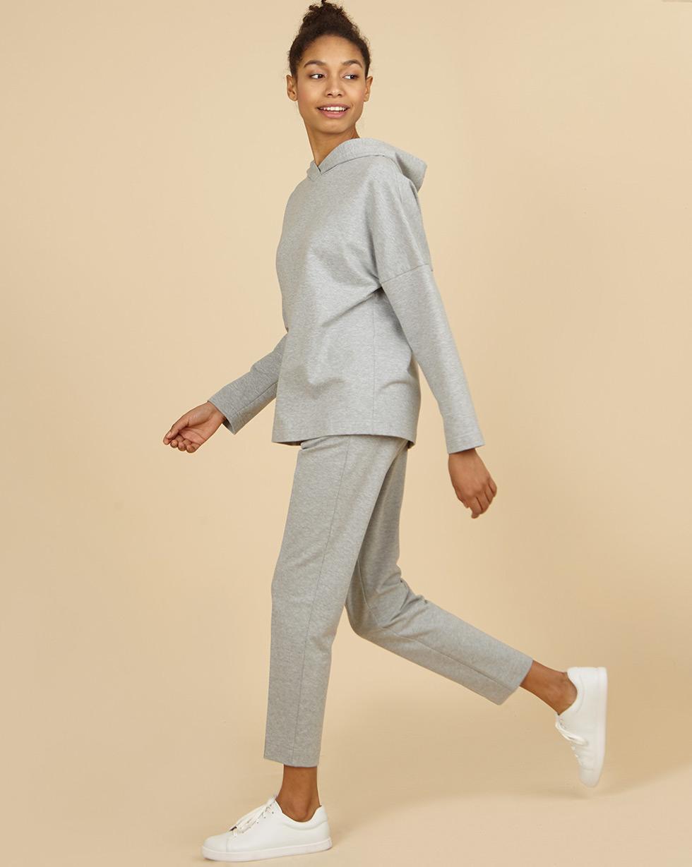 12Storeez Брюки из трикотажного полотна (серый меланж) брюки узкие в клетку