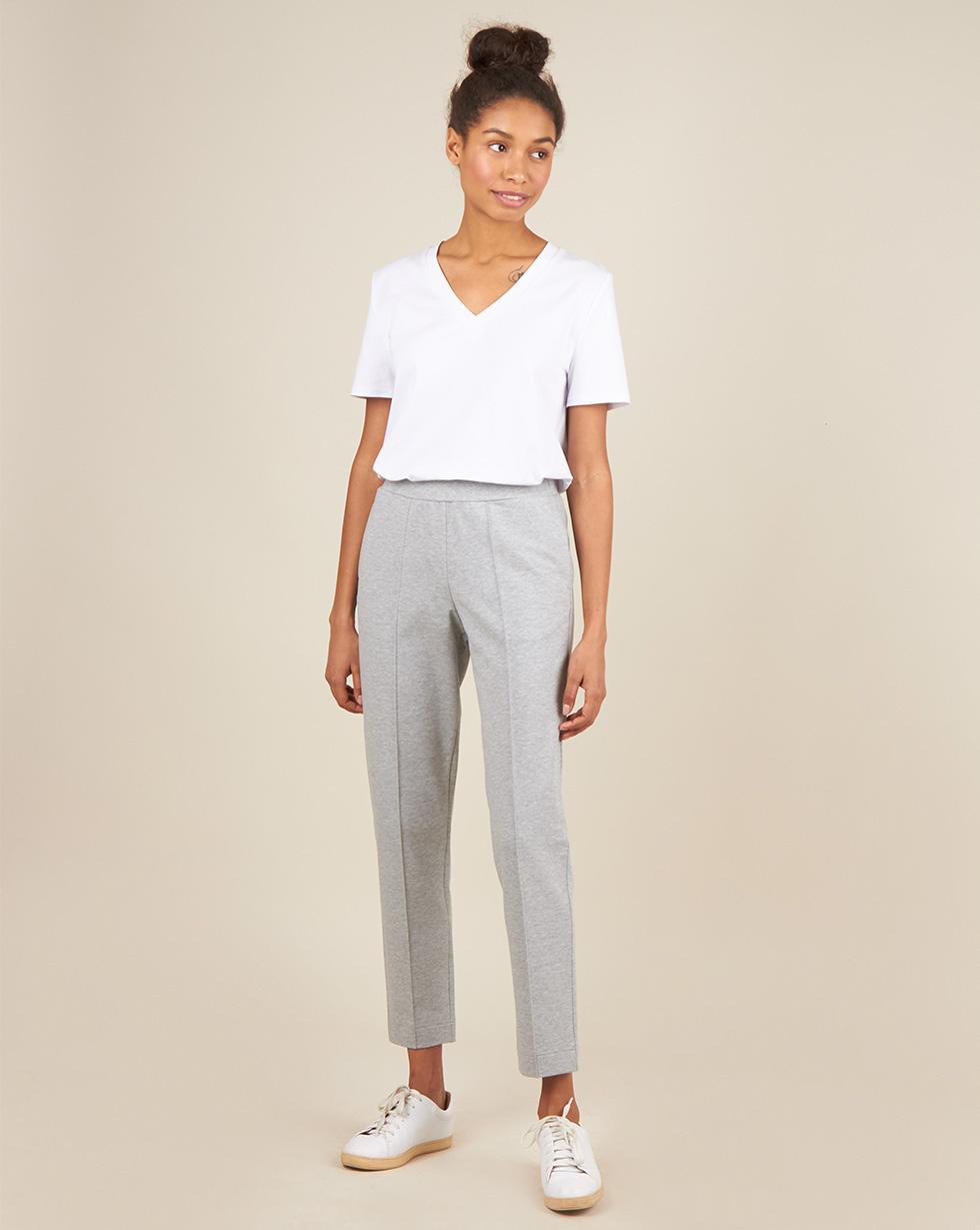 12Storeez Брюки из трикотажного полотна (серый меланж) брюки узкие из вельвета