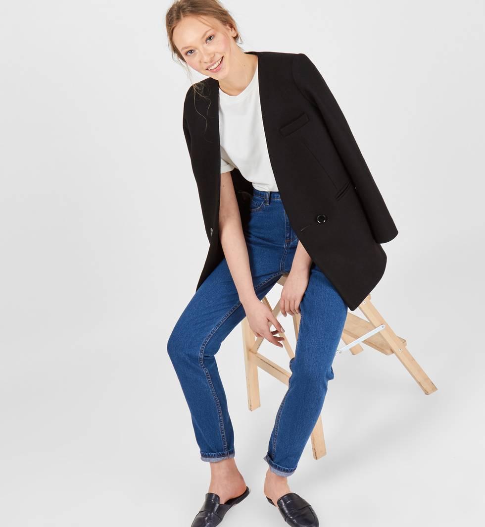 Джинсы свободного покроя с высокой посадкой MБрюки и джинсы<br><br><br>Артикул: 22086529<br>Размер: M<br>Цвет: Синий<br>Новинка: НЕТ<br>Наименование en: High waist relaxed fit jeans