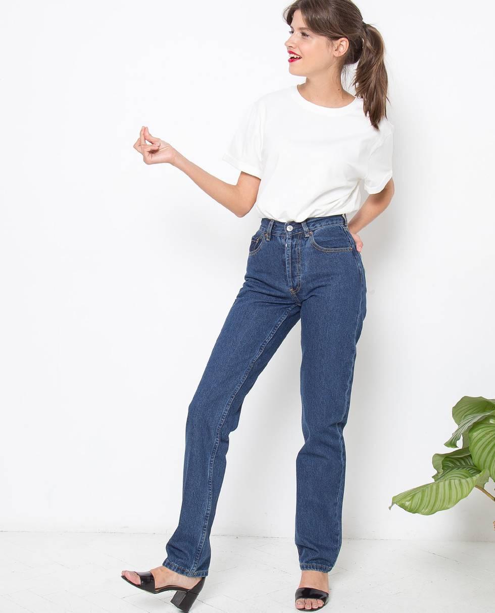 Джинсы с высокой посадкой Sбрюки<br><br><br>Артикул: 22086535<br>Размер: S<br>Цвет: Темно-синий<br>Новинка: НЕТ<br>Наименование en: High waisted jeans