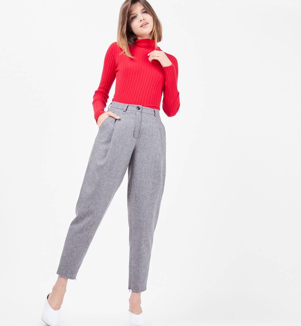 Брюки с молниями SБрюки<br><br><br>Артикул: 22086894<br>Размер: S<br>Цвет: Серый<br>Новинка: НЕТ<br>Наименование en: Ankle zip trousers