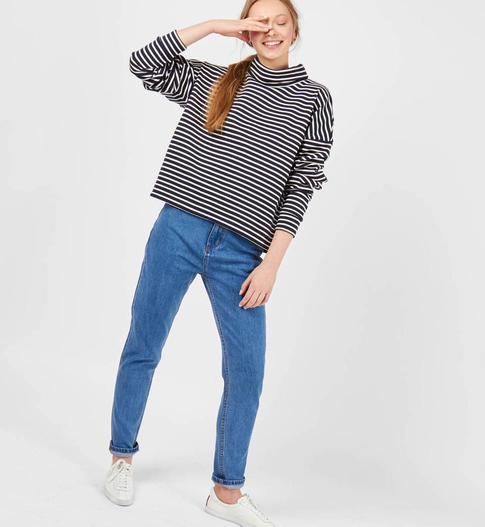 12Storeez Джинсы свободного покроя с высокой посадкой (голубые) levi's® прямые голубые джинсы 501® taper