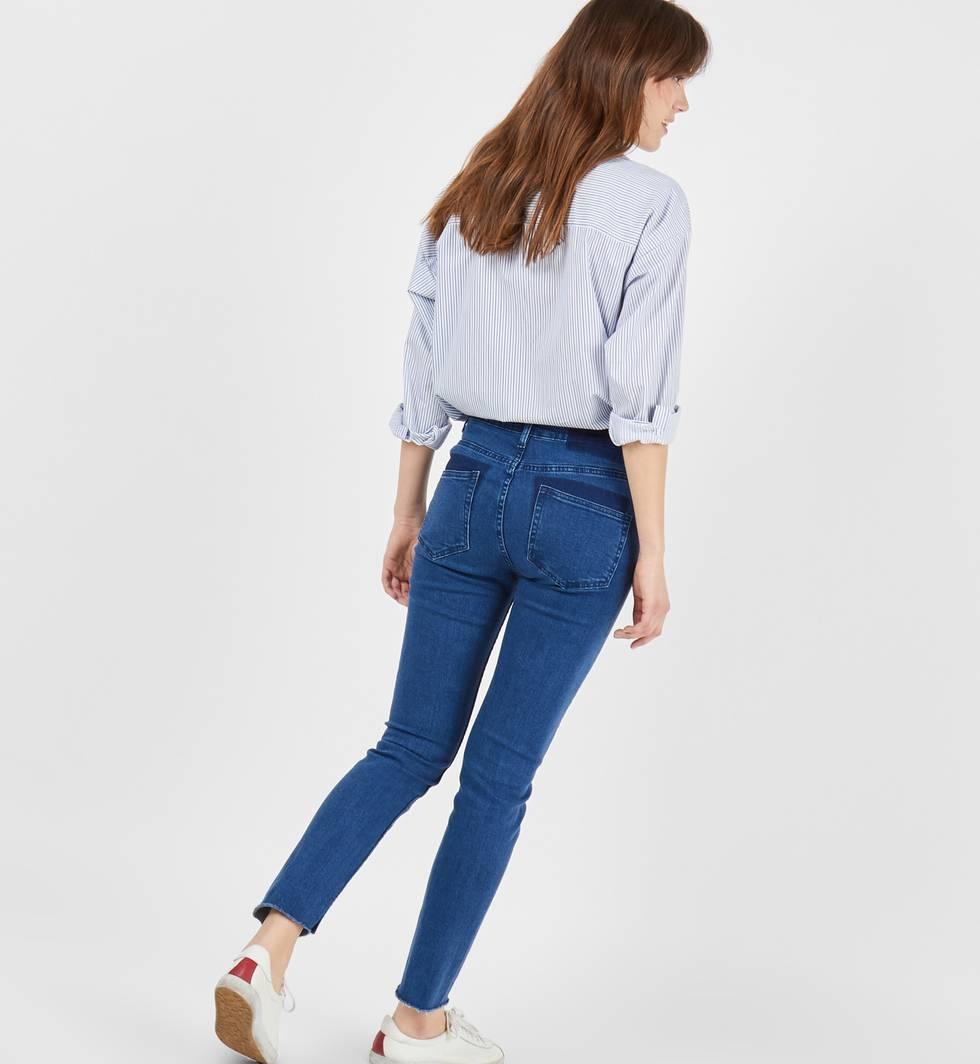 Джинсы с необработанным краем по низу Mбрюки<br><br><br>Артикул: 22088382<br>Размер: M<br>Цвет: Синий<br>Новинка: НЕТ<br>Наименование en: Frayed hem skinny jeans
