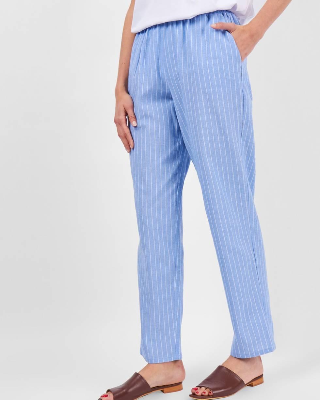 Брюки на резинке в полоску MБрюки<br><br><br>Артикул: 22089038<br>Размер: M<br>Цвет: Голубой<br>Новинка: НЕТ<br>Наименование en: Elasticated waist trousers