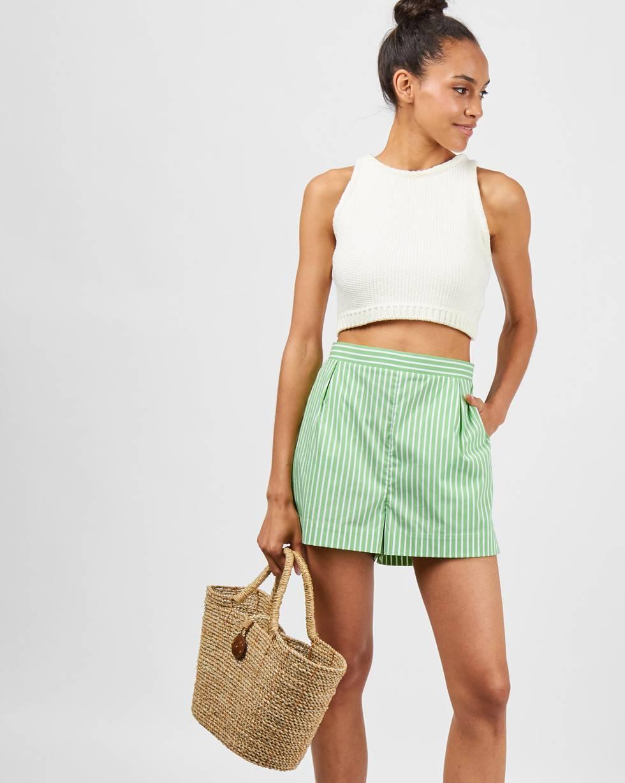 Шорты пижамные в полоску MБрюки и джинсы<br><br><br>Артикул: 22089562<br>Размер: M<br>Цвет: Светло-зеленый<br>Новинка: НЕТ<br>Наименование en: Stripe pyjama style shorts