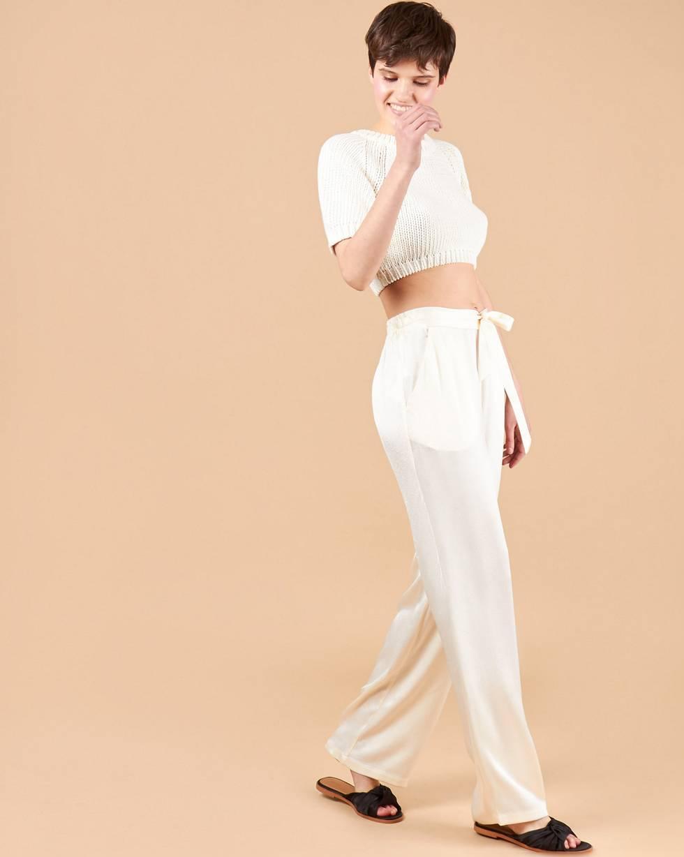 Брюки широкие в пижамном стиле MБрюки<br><br><br>Артикул: 22089596<br>Размер: M<br>Цвет: Молочный<br>Новинка: НЕТ<br>Наименование en: Pyjama style trousers