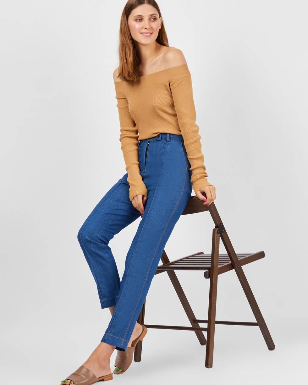 Джинсы с защипом XSБрюки и джинсы<br><br><br>Артикул: 22089685<br>Размер: XS<br>Цвет: Синий<br>Новинка: НЕТ<br>Наименование en: Dark wash skinny jeans