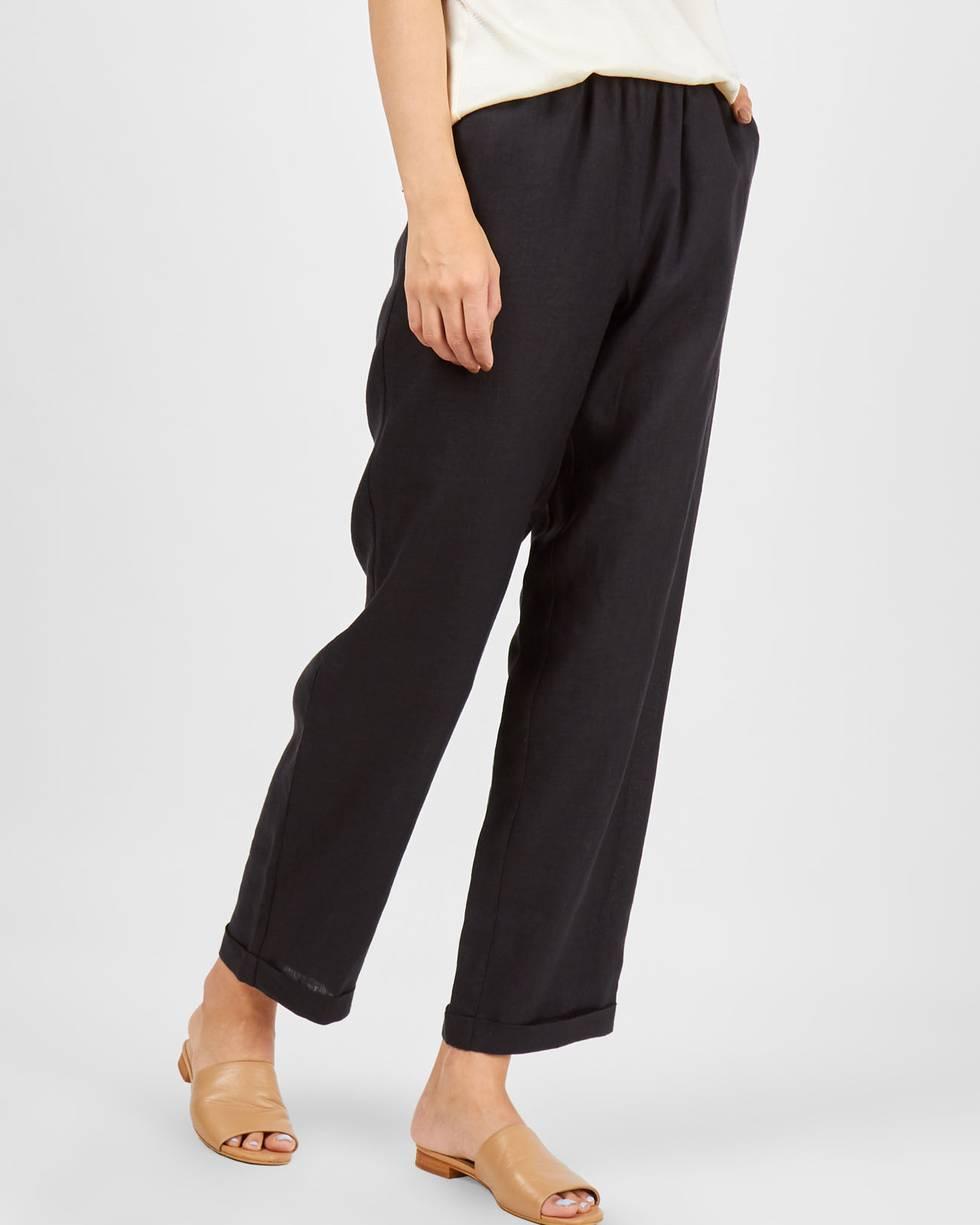 12Storeez Брюки на резинке укороченные (черный) 12storeez брюки укороченные в клетку коричнево белый