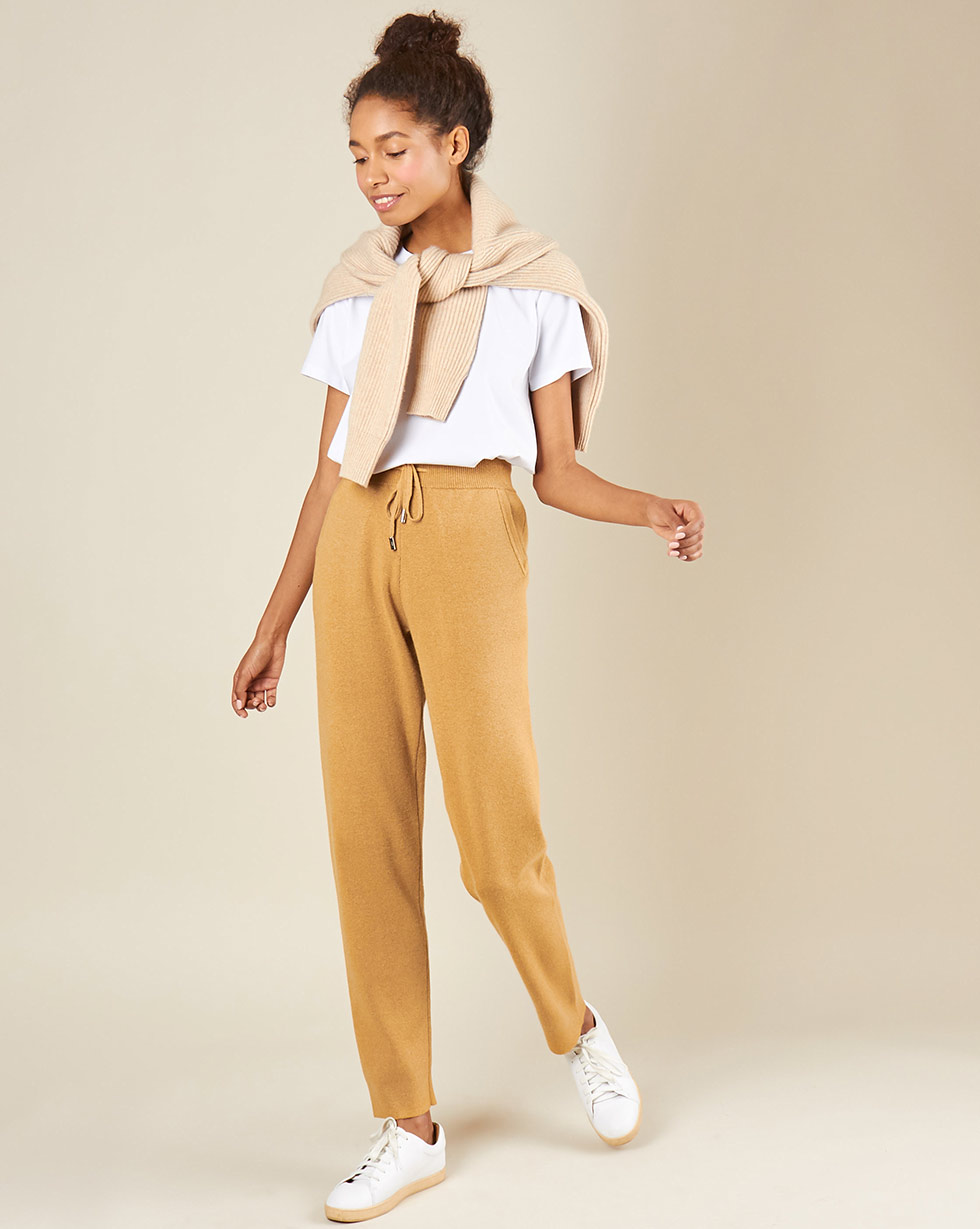 12Storeez Брюки трикотажные с карманами (кэмел) брюки с 5 карманами glenn