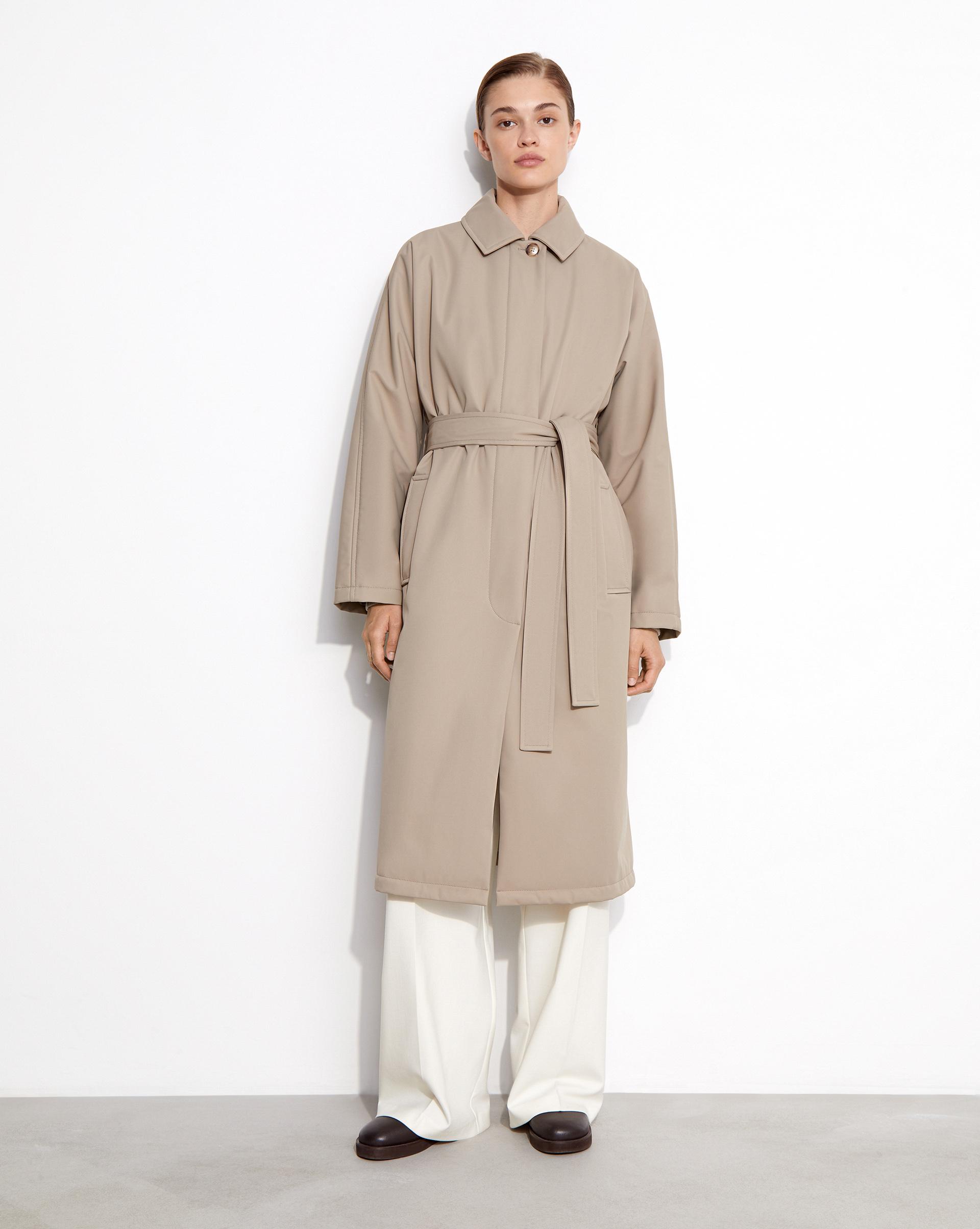 12⠀STOREEZ Пальто прямое с поясом