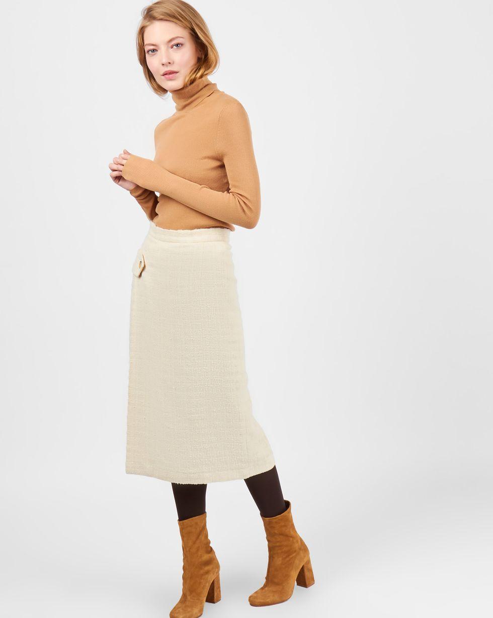 12STOREEZ Юбка миди на поясе с запахом полуприлегающая юбка с запахом max mara полуприлегающая юбка с запахом