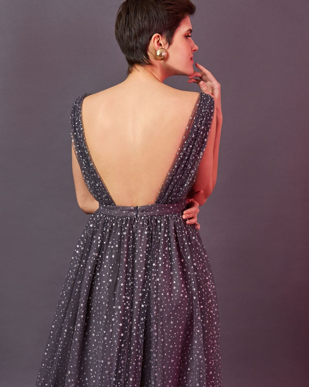 12STOREEZ Платье миди с мелкими звездочками
