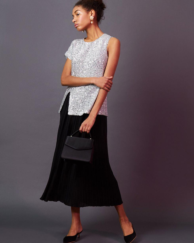 12STOREEZ Платье миди с плиссированным низом 12storeez юбка миди расклешенная из вельвета синяя