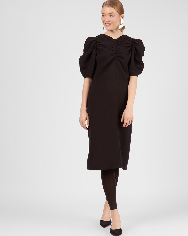 12STOREEZ Платье со сборкой на рукавах
