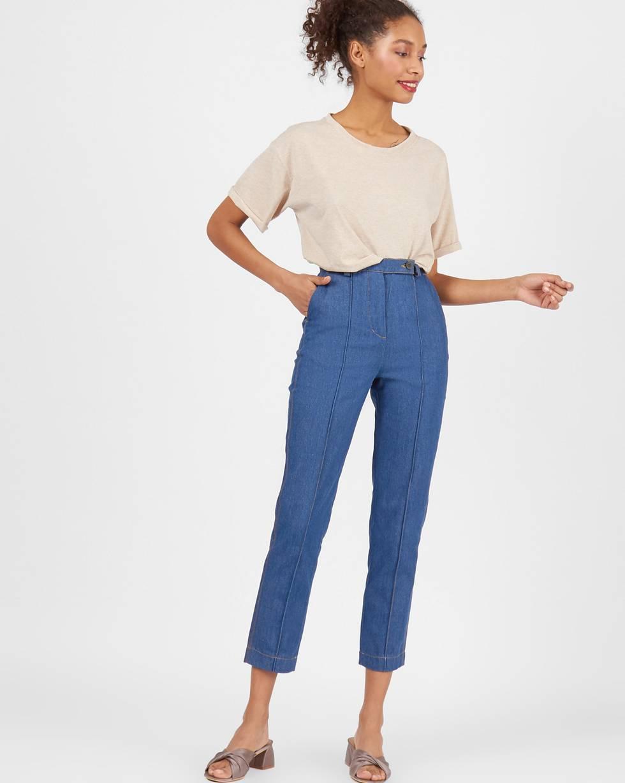 12⠀STOREEZ Джинсы с защипом джинсы blugirl джинсы в стиле брюк