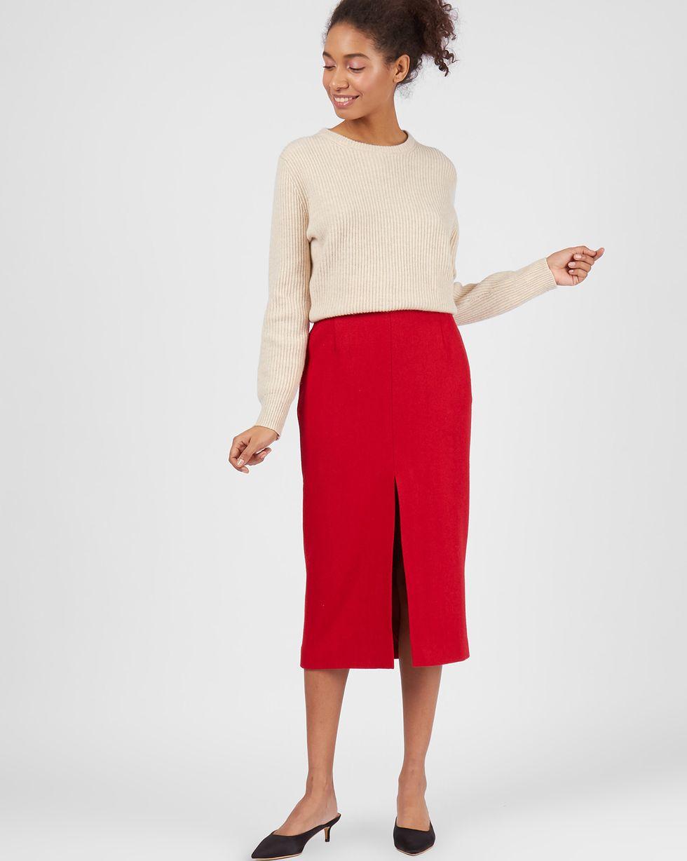 Фото - 12⠀STOREEZ Юбка миди с разрезом спереди 12storeez юбка миди со складками спереди