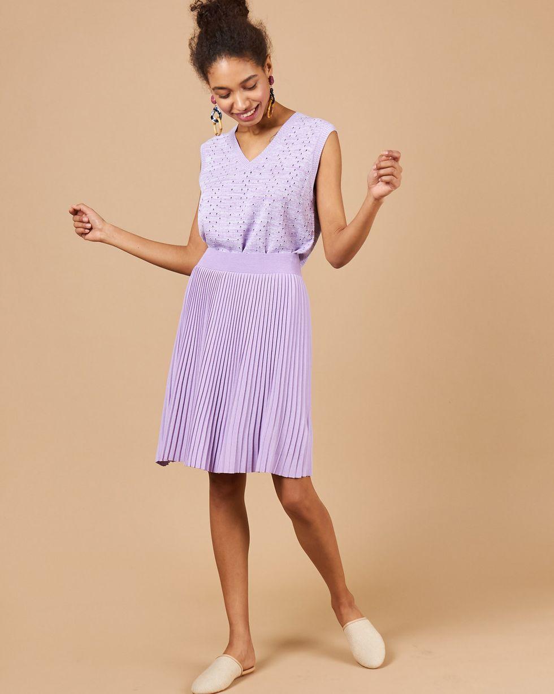 12STOREEZ Комплект: жилет и плиссированная юбка