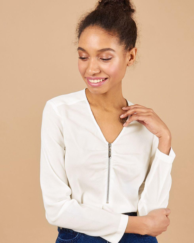 цена 12STOREEZ Блуза с V-образным вырезом онлайн в 2017 году