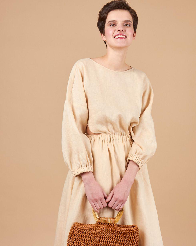 12STOREEZ Платье изо льна на резинке