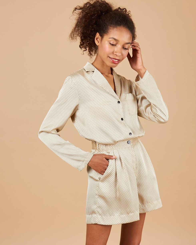 12STOREEZ Комплект: Блуза с шортами в горох