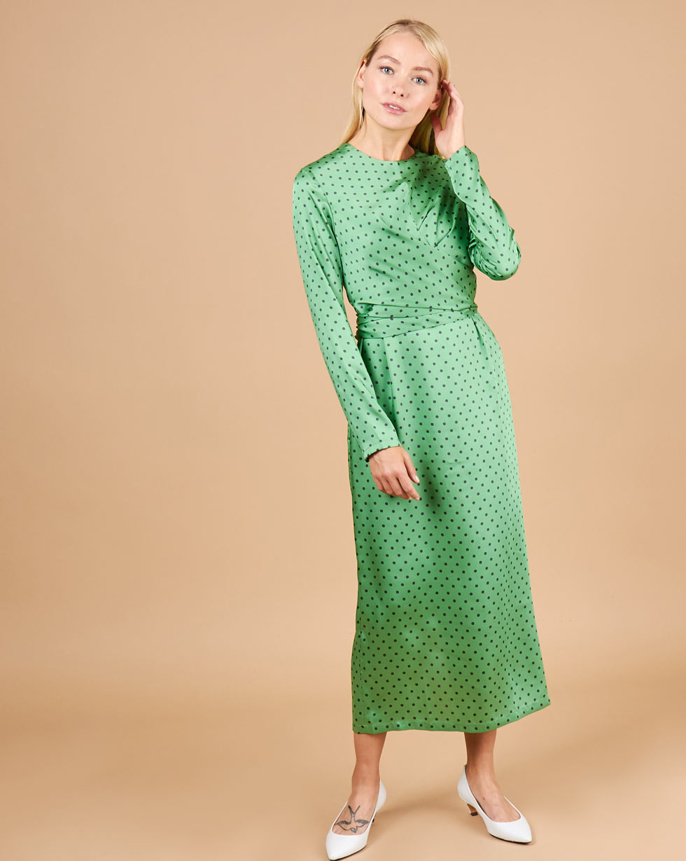 12STOREEZ Платье миди с завязками на талии