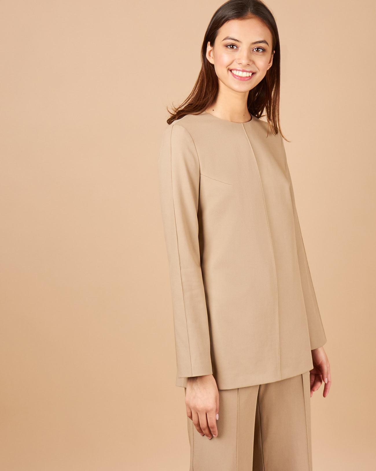12STOREEZ Блуза с отстрочками на рукавах