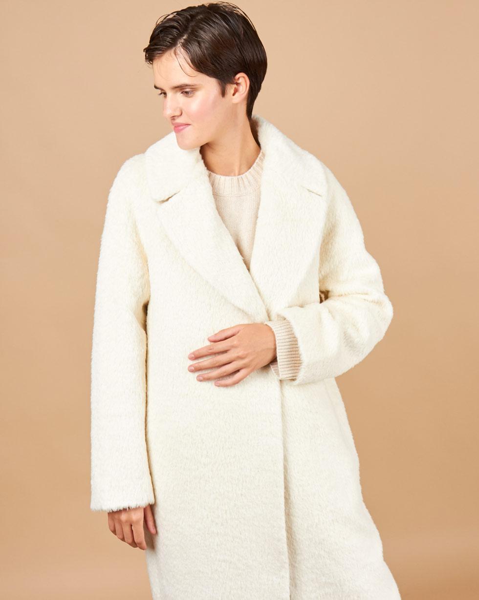 12STOREEZ Пальто объемное из шерсти альпаки