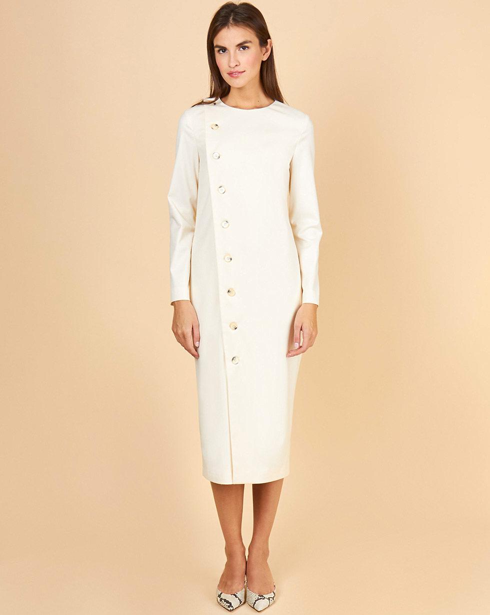 цена 12STOREEZ Платье на пуговицах с длинным рукавом онлайн в 2017 году